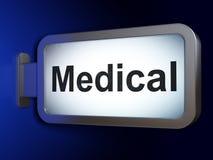 Geneeskundeconcept: Medisch op aanplakbordachtergrond Stock Afbeelding