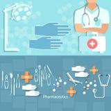 Geneeskundeconcept ziekenwagen van het artsen de professionele ziekenhuis Royalty-vrije Stock Afbeeldingen