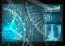 Geneeskundegebruikersinterface, het 3D teruggeven Stock Foto's