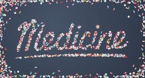 Geneeskundetitel die van pillen wordt gecreeerd Royalty-vrije Stock Afbeelding