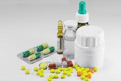 Geneesmiddelen voor behandeling van ziekte royalty-vrije stock afbeelding