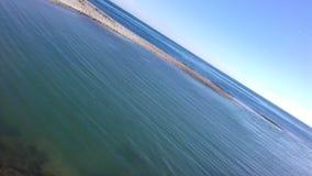 Geneigte Ansicht des Meeres stockfoto