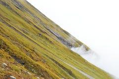 Geneigter Hügel Stockfoto