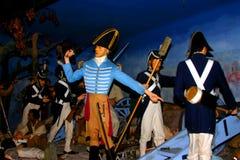 Generał Andrew Jackson przy bitwą Nowy Orlean zdjęcie royalty free