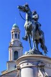 Generała George Thomas Cywilnej wojny statuy miasta kościół Krajowy washington dc Fotografia Royalty Free