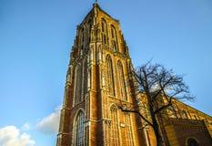 Generała krajobrazu widoki w tradycyjnym Holenderskim kościół Zdjęcia Royalty Free