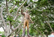Generała Dywizji Lachlan Macquarie zabytek przy Hyde parkiem, Sydney, Australia Zdjęcie Royalty Free