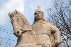 Generał Qi Jiguang, Shuiguan wielki mur, Badaling, Yanqing, Chiny Obraz Stock
