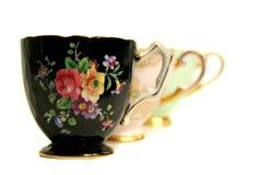 Generación de eco antigua de la taza de té foto de archivo