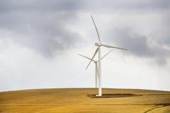 Generación de la energía eólica Fotografía de archivo libre de regalías