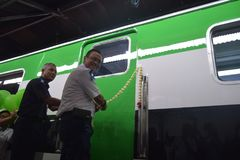 Generación 2 del tren de Inpeksi Fotos de archivo