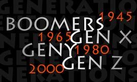 generaciones Fotos de archivo