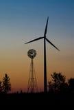 Generaciones del molino de viento   Imagen de archivo libre de regalías