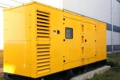 Generador amarillo Foto de archivo libre de regalías