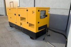 Generador amarillo Fotografía de archivo libre de regalías