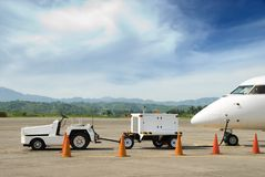 Generador de la electricidad para el aeroplano Fotografía de archivo libre de regalías
