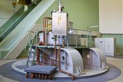 Generador de la turbina de agua imagen de archivo libre de regalías