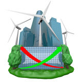 generador de la Viento-turbina Fotografía de archivo