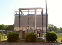 Generador de motor diesel coloreado aluminio Foto de archivo libre de regalías