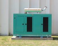 Generador de motor diesel verde Foto de archivo libre de regalías