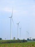 Generador de poder de la turbina de viento Imágenes de archivo libres de regalías