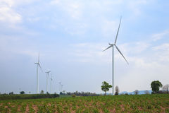 Generador de poder de la turbina de viento Fotografía de archivo