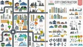 Generador del mapa de la ciudad Ejemplo del mapa de la ciudad ilustración del vector