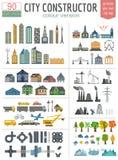 Generador del mapa de la ciudad Elementos para crear su ciudad perfecta libre illustration