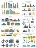 Generador del mapa de la ciudad Elementos para crear su ciudad perfecta columna libre illustration