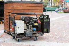 Generador diesel auxiliar para la emergencia Electric Power Fotografía de archivo libre de regalías