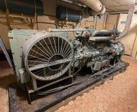 Generador diesel en almacenamiento soviético del arma nuclear Fotos de archivo libres de regalías