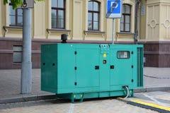 Generador diesel para la emergencia Electric Power Generador diesel eléctrico Imágenes de archivo libres de regalías