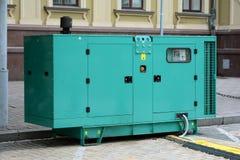 Generador diesel para la emergencia Electric Power Generador diesel eléctrico Imagen de archivo