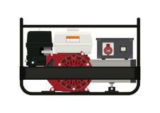 Generador eléctrico portable stock de ilustración