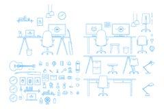 Generador interior del espacio de trabajo del vector stock de ilustración