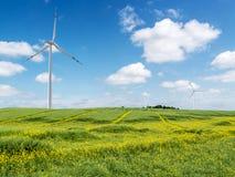 Generadores de la energía eólica Fotos de archivo libres de regalías