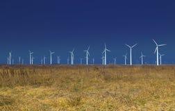 Generadores de la energía eólica Foto de archivo