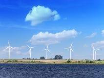 Generadores de la energía eólica Imágenes de archivo libres de regalías