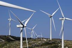 Generadores de viento Imagen de archivo libre de regalías