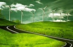 Generadores de viento, ecología Foto de archivo