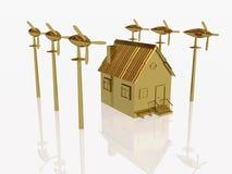 Generadores del hogar y de viento del oro libre illustration