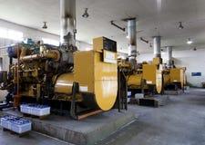 Generadores diesel Imágenes de archivo libres de regalías
