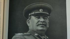 Generalísimo Joseph Stalin, retrato almacen de metraje de vídeo