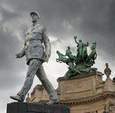 General. Monument to French general and statesman Charles de Gaulle on the Avenue des Champs-Elysees, in Paris, France Royalty Free Stock Photo