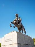 General Andrew Jackson en un caballo 2 Foto de archivo libre de regalías