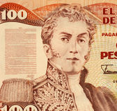 General Antonio Narino. On 100 Pesos 1991 Banknote from Colombia. He was one of the early political and military leaders of the independence movement in Royalty Free Stock Images