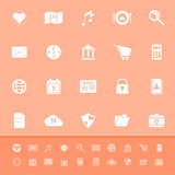 General application color icons on orange backgrou Royalty Free Stock Photography