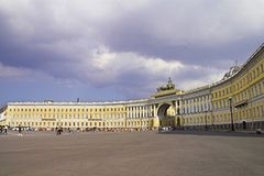 General Army Staff Building. In Saint Petersburg, Russia. Classicism-epoch style stock photography