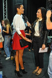 A general atmosphere backstage during the Byblos show as a part of Milan Fashion Week Stock Photo