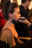 A general atmosphere backstage during KYBOE Spring Summer 2017 Runway accessory show Stock Photos